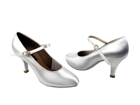 Style CD5024M White Satin - Ladies Dance Shoes | Blue Moon Ballroom Dance Supply