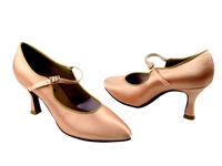 Style CD5100M Flesh Satin - Ladies Dance Shoes | Blue Moon Ballroom Dance Supply