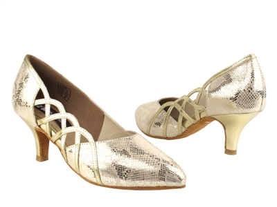 Style CD5501 Gold Leather - Ladies Dance Shoes | Blue Moon Ballroom Dance Supply