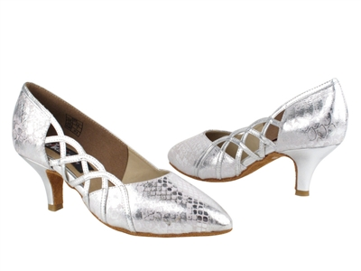 Style CD5501 Silver Leather - Ladies Dance Shoes | Blue Moon Ballroom Dance Supply