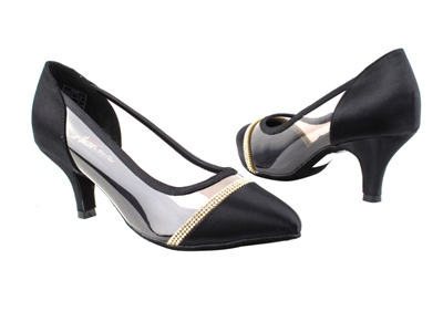 Style CD5502 Black Satin - Ladies Dance Shoes | Blue Moon Ballroom Dance Supply