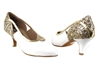 Style CD5503 Gold Sparkle & WhitePatent - Ladies Dance Shoes | Blue Moon Ballroom Dance Supply