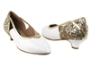 Style CD5503 Gold Sparkle & White Patent Cuban Heel | Blue Moon Ballroom Dance Supply