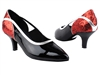 Style CD5503 Red Sparkle & Black Patent