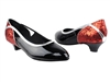 Style CD5503 Red Sparkle & Black Patent Cuban Heel | Blue Moon Ballroom Dance Supply
