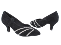 Style CD5504 Black Suede - Ladies Dance Shoes | Blue Moon Ballroom Dance Supply