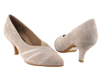 Style CD5504 Grey Suede - Ladies Dance Shoes | Blue Moon Ballroom Dance Supply