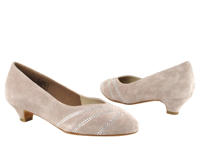 Style CD5504 Grey Suede Cuban Heel - Ladies Dance Shoes | Blue Moon Ballroom Dance Supply