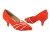 Style CD5504 Red Suede - Ladies Dance Shoes | Blue Moon Ballroom Dance Supply