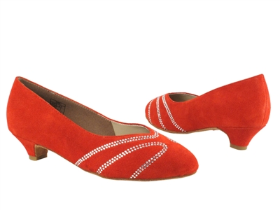 Style CD5504 Red Suede Cuban Heel - Ladies Dance Shoes | Blue Moon Ballroom Dance Supply