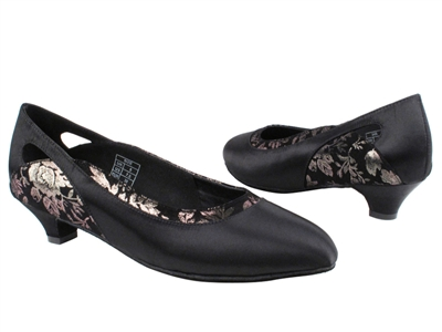 Style CD5505 Black Satin Cuban Heel - Ladies Dance Shoes | Blue Moon Ballroom Dance Supply