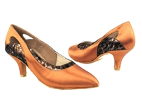 Style CD5505 Dark Tan Satin - Ladies Dance Shoes | Blue Moon Ballroom Dance Supply