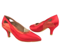 Style CD5505 Red Satin - Ladies Dance Shoes | Blue Moon Ballroom Dance Supply