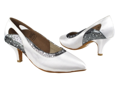 Style CD5505 White Satin - Ladies Dance Shoes | Blue Moon Ballroom Dance Supply