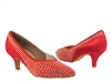 Style CD5506 Red Suede & Satin - Ladies Dance Shoes | Blue Moon Ballroom Dance Supply