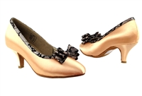 Style CD5507LE Tan Satin - Ladies Dance Shoes | Blue Moon Ballroom Dance Supply