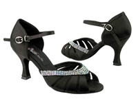 CD6801 Black Satin - Women's Dance Shoes | Blue Moon Ballroom Dance Supply