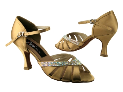 CD6801 Tan Satin - Women's Dance Shoes | Blue Moon Ballroom Dance Supply