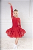 Style DA Girls Ballroom Dance Lace Long Sleeve Bodysuit | Blue Moon Ballroom Dance Supply