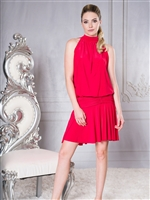 Style D004 Halter Neck Jackie Dress - Women's Dancewear  | Blue Moon Ballroom Dance Supply