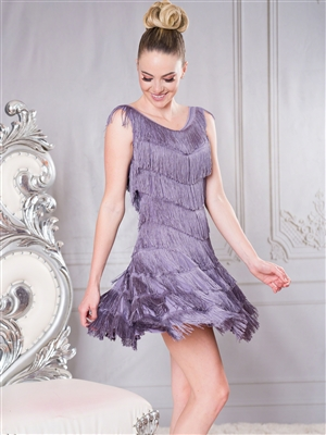 Style D005 Full Fringe Dress - Women's Dancewear  | Blue Moon Ballroom Dance Supply