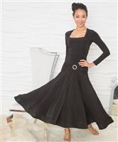 Style D808XXL Long Square Neck Dress