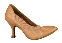 Style DA Helena Tan Leather Closed Toe Shoe - Shoes | Blue Moon Ballroom Dance Supply