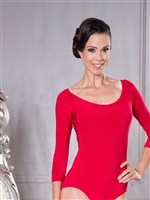 Style L001 3/4 Sleeve Leotard - Dance Accessories | Blue Moon Ballroom Dance Supply