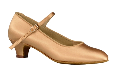 Style DA Logan Lt Tan Satin Children's Shoe - Shoes | Blue Moon Ballroom Dance Supply