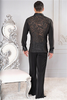 Style MS25 Soft Collared Embroidery Shirt - Men's Dancewear | Blue Moon Ballroom Dance Supply