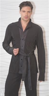 Style MS27 Belted Kimono Shirt - Men's Dancewear | Blue Moon Ballroom Dance Supply
