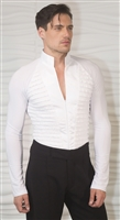 Style MS28 High Collared Tux Shirt - Men's Dancewear | Blue Moon Ballroom Dance Supply