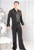 Style MS42 Satin Trim Soft Shirt - Men's Dancewear | Blue Moon Ballroom Dance Supply