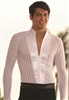 Style MS7 Mandarin Collar Shirt White Stripe - Men's Dancewear | Blue Moon Ballroom Dance Supply