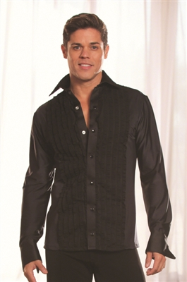 Style MS8A Ruffled Tuxedo Shirt - Men's Dancewear | Blue Moon Ballroom Dance Supply