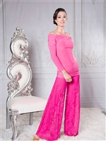 Style P002 Sheer Palazzo Pants for Dance & Performance | Blue Moon Ballroom Dance Supply