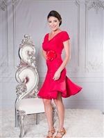 Style S002 Short Tulip Latin Dance Skirt - Women's Dancewear  | Blue Moon Ballroom Dance Supply