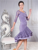 Style S021 Dual Layered Ruffle Skirt - Women's Dancewear  | Blue Moon Ballroom Dance Supply