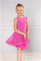 Style DA Girls Ballroom Dance Short Mesh Skirt for Dance | Blue Moon Ballroom Dance Supply