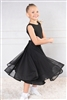 Style DA Girls Ballroom Dance Long Mesh Skirt for Dance | Blue Moon Ballroom Dance Supply