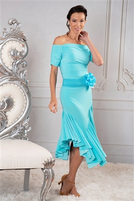 Style S904 Asymmetric Full Flounced Skirt - Women's Dancewear  | Blue Moon Ballroom Dance Supply