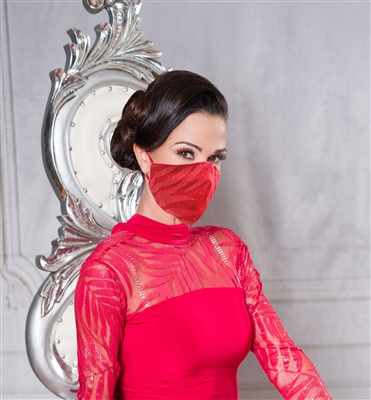 Style Foil Fabric Protective Face Mask - Dance Accessories | Blue Moon Ballroom Dance Supply