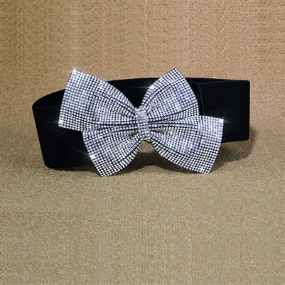 Style DA Rhinestone Bow Belt - Dance Accessories | Blue Moon Ballroom Dance Supply