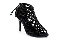 Style Cage Black Bootie Shoe