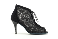 Style Paris Black Lace Bootie Shoe - Gfranco Dancewear | Blue Moon Ballroom Dance Supply