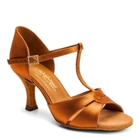 Style IDS 1018 Tan Satin - Women's Dance Shoes | Blue Moon Ballroom Dance Supply