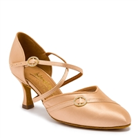 Style IDS American Klass Flesh Satin - Women's Dance Shoes | Blue Moon Ballroom Dance Supply
