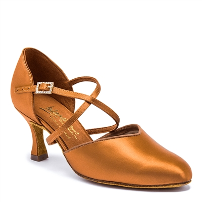 Style IDS American Smooth Tan Satin - Women's Dance Shoes | Blue Moon Ballroom Dance Supply