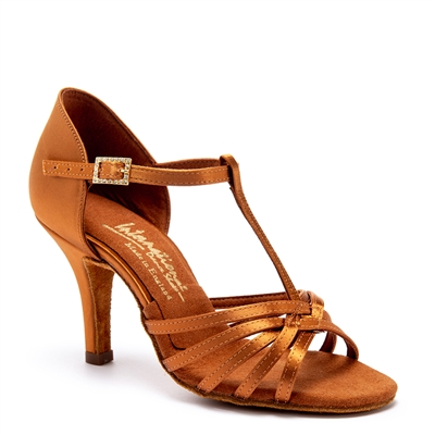 Style IDS Bela Tan Satin - Women's Dance Shoes | Blue Moon Ballroom Dance Supply