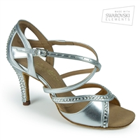 Style IDS Bianca Crystal Silver - Women's Dance Shoes | Blue Moon Ballroom Dance Supply